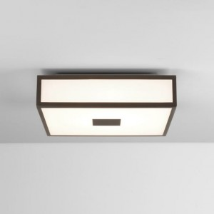 lampa łazienkowa astro Mashiko 300 LED Ceiling Light Square MK2 Bronze Plated 7987