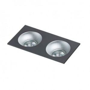 AZZARDO LAMPA WPUSZCZANA HUGO 2 DOWNLIGHT BLACK  GM2203S BK
