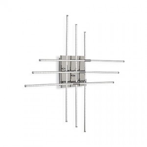IDEAL LUX CROSS PL360 CHROMOWY KINKIET 114750