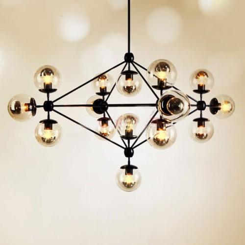 Lampa wisząca ASTRIFERO 15 bursztynowo czarna 110 cm